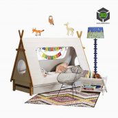Domayne Tee Pee Bed with Crate & Barrel Decor(3ddanlod.ir) 133