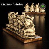 Figurine Elephants(3ddanlod.ir) 004