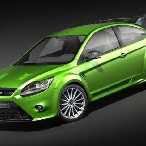 Ford Focus RS 2009 3D Model(3ddanlod.ir)