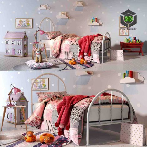 Girl Bedroom Set 01(3ddanlod.ir) 137