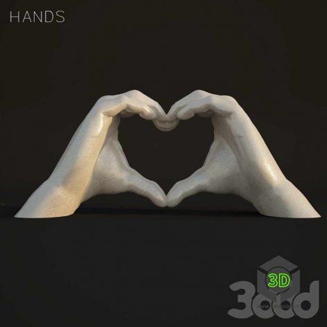 Hands statue(3ddanlod.ir)