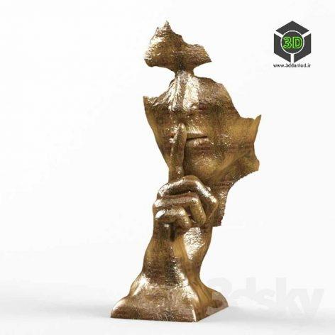 Man Face Statue(3ddanlod.ir) 095
