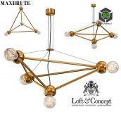 Molecule Gold Chandelier 4(3ddanlod.ir) 162