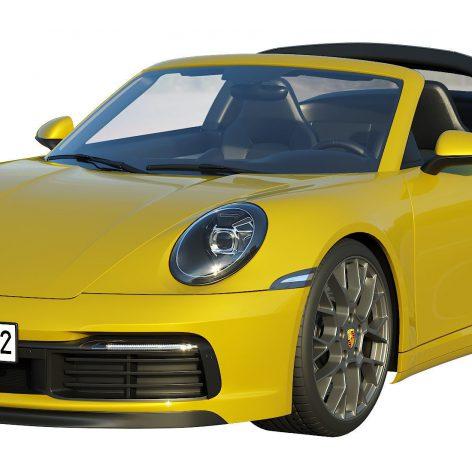 Porsche 911 Targa 2019 3D model(3ddanlod.ir)