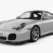 Porsche 911 Turbo Coupe (996) 2000 3D model(3ddanlod.ir)