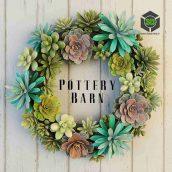Pottery Barn Succulent Wreath(3ddanlod.ir) 179