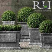 Restoration Hardware Estate Zinc Paneled Planters(3ddanlod.ir) 062