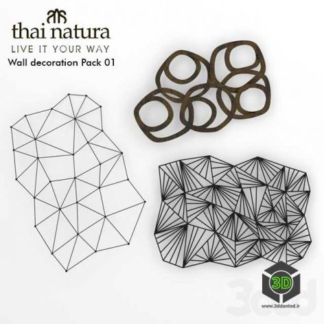 Thai Natura Wall Decoration set 01(3ddanlod.ir)