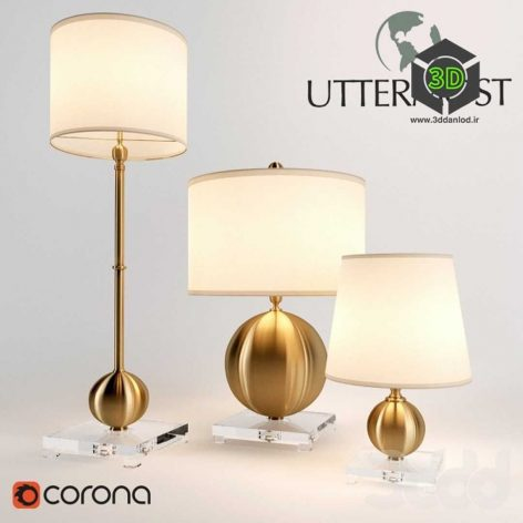 Uttermost Laton lamps table(3ddanlod.ir)
