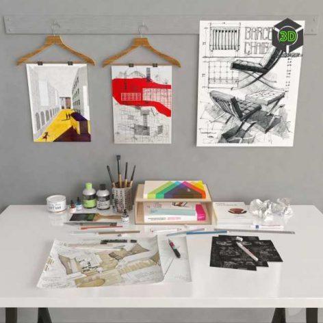 Working Space(3ddanlod.ir)
