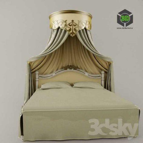 classic bed 117 (3ddanlod.ir)