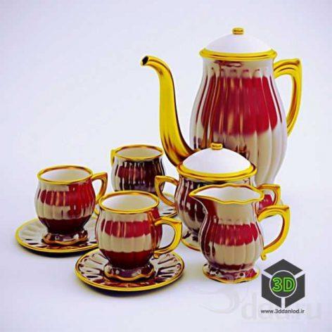 coffee service_cups_teapot(3ddanlod.ir)