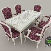 dinning furniture 008 (3ddanlod.ir)