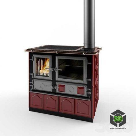 Отопительная-варочная печь Rosa Maiolica(3ddanlod.ir)