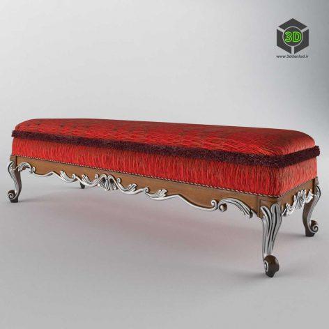 classic bed bench - (3ddanlod.ir) 015