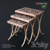 AICO Discoveries Greek Revival Nesting Tables by Michael Amini(3ddanlod.ir) 076