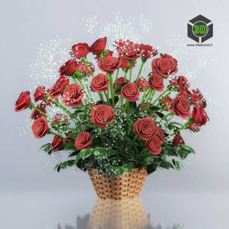 Bouquet of Red Roses(3ddanlod.ir) 084