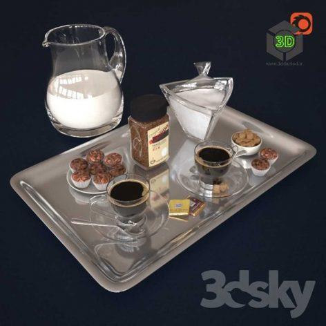 Coffee Bushido and Decorative Set(3ddanlod.ir) 148