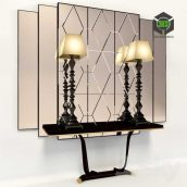 Console with Mirror and Lamps Transition by CASALI(3ddanlod.ir) 109