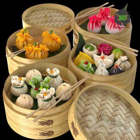 Dim Sum Dum Sam Chinese Dumplings(3ddanlod.ir) 203