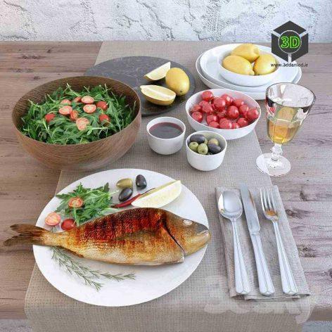 Fish Fried Dorada(3ddanlod.ir) 173