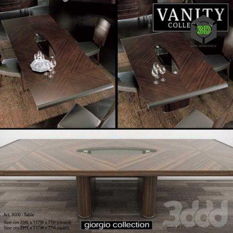 GIORGIO COLLECTION Vanity - Art. 9000 - Table(3ddanlod.ir)
