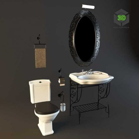 Globo_sanitary_bathroom(3ddanlod.ir)