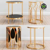 Gold Side Tables(3ddanlod.ir) 249