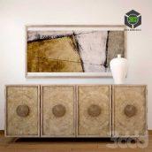 Hooker Furniture Living Room Melange Piper Credenza(3ddanlod.ir)