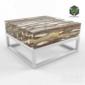 Kisimi Acrylic Coffee Table with Metal Base (3ddanlod.ir)