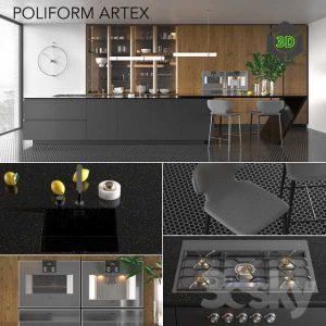 Kitchen Poliform Varenna Artex Vray GGX Corona PBR(3ddanlod.ir) 114