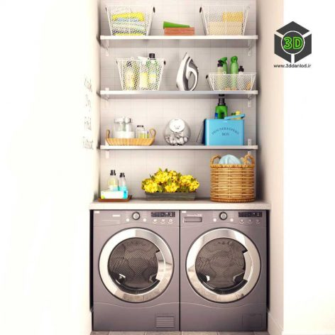 Laundry Set(3ddanlod.ir) 086