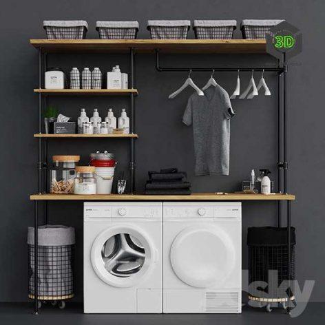 Loft Laundry Set(3ddanlod.ir) 068