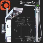 Outdoor Bath Mixer Newform Pura Libera(3ddanlod.ir) 045