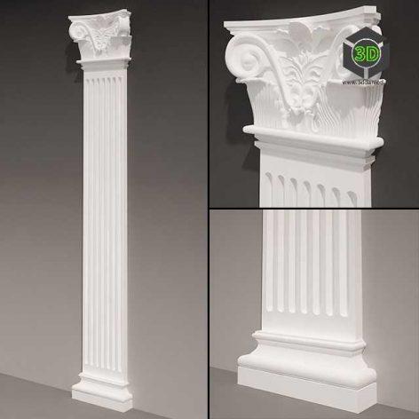 Pilaster antique type 4 (3ddanlod.ir) 103