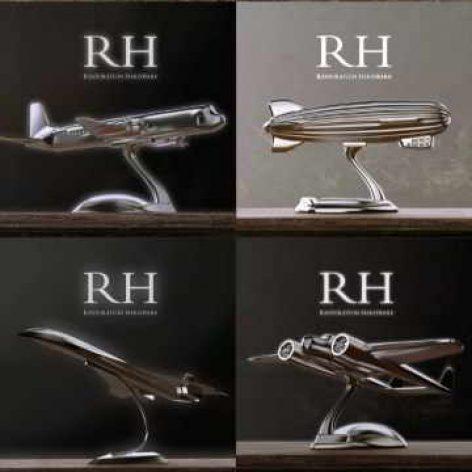 RH Aircrafts Decoration Set of 4 konkord(3ddanlod.ir) 006