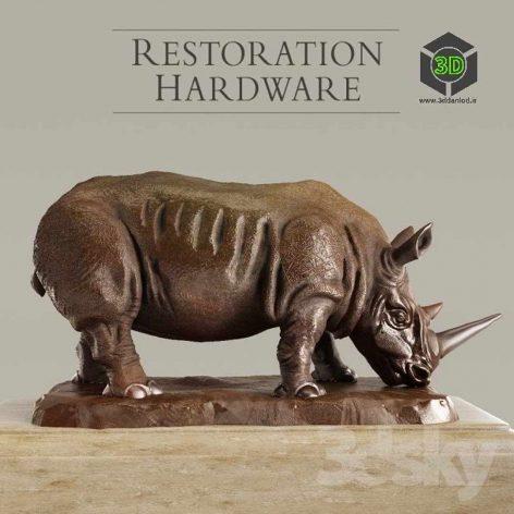 RH Bronze Rhino(3ddanlod.ir) 054