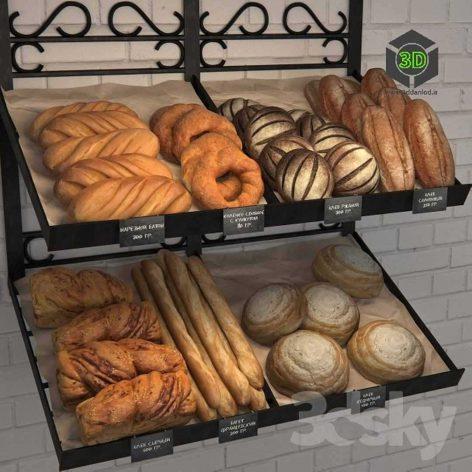 Rack with Bread(3ddanlod.ir) 128