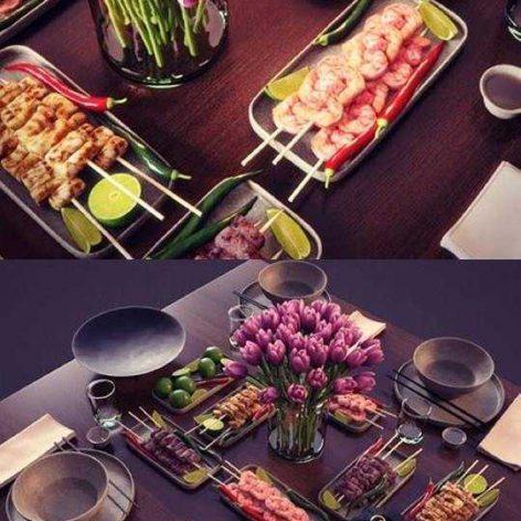 Set Dinner Table(3ddanlod.ir) 234