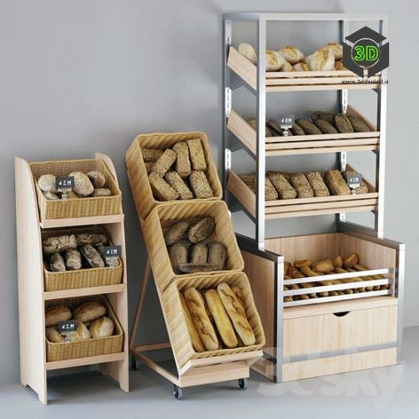 Shelvings with Bread(3ddanlod.ir) 176
