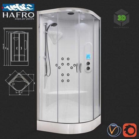 Shower Cubicle with Hydromassage(3ddanlod.ir) 116