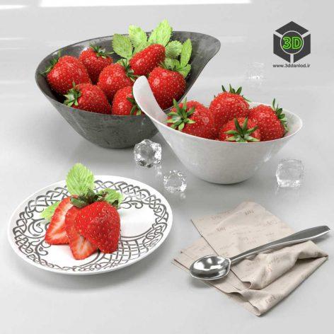 Strawberry Set(3ddanlod.ir) 291