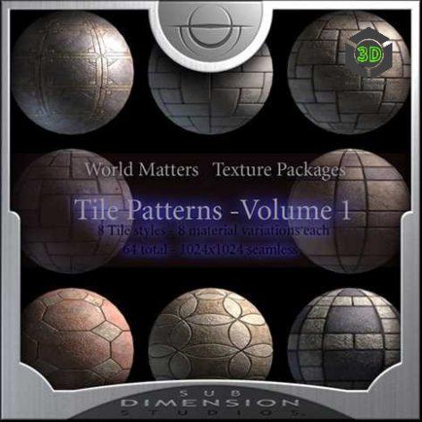 Tile patterns V1 cover image (3ddanlod.ir)