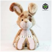 Toy Bunny front view (3ddanlod.ir) 033