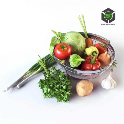 Vegetables in the Basket(3ddanlod.ir) 018
