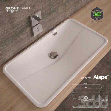 Washbasin Alape UBTA700(3ddanlod.ir) 041