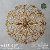 West Elm Floral Burst Chandelier(3ddanlod.ir) 061