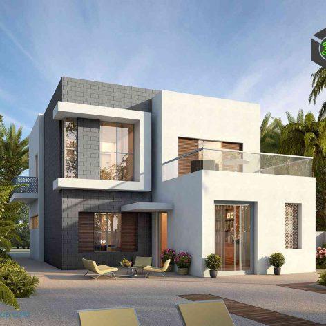 villa exterior model 06 (3ddanlod.ir)