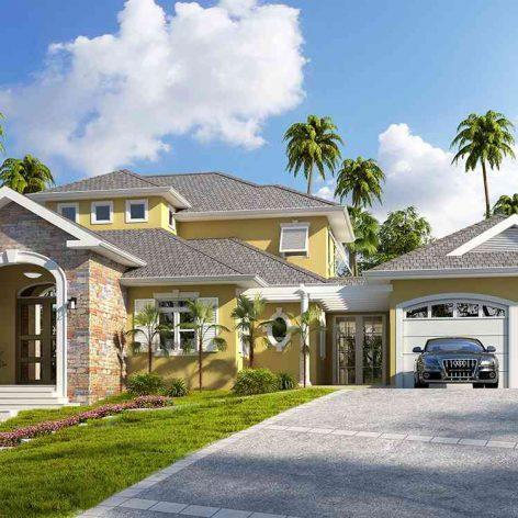 villa exterior model 32 (3ddanlod.ir)