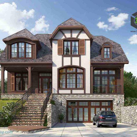 villa exterior model 40 (3ddanlod.ir)